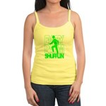 Everyday I'm Shufflin Green Jr. Spaghetti Tank