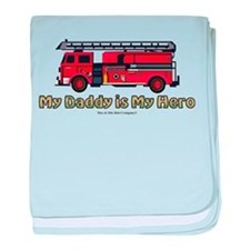 My daddy is my Hero baby blanket