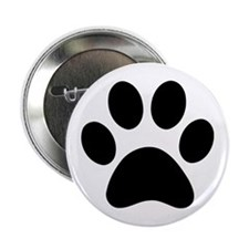 "Paw Print Icon 2.25"" Button"