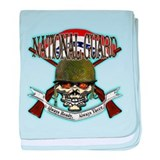 US Army National Guard Skull baby blanket