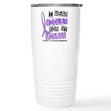 I Wear Violet 37 Hodgkin's Lymphoma Thermos Mug