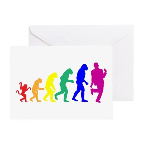 Gay Evolution Greeting Card