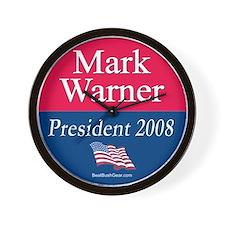 """Mark Warner President"" Wall Clock"