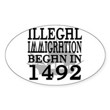 1492 Oval Decal