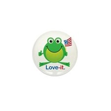 Freedom Frog: Mini Button (10 pack)