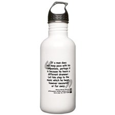 Thoreau Drummer Quote Water Bottle