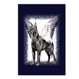 Great Dane Angel Black Postcards (Package of 8)