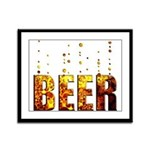 Beer Framed Panel Print
