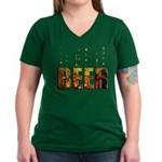 Beer Women's V-Neck Dark T-Shirt
