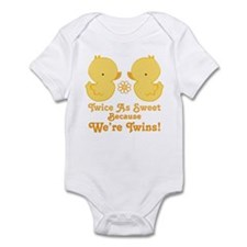 Twins Baby Ducks Onesie