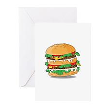 Cartoon Hamburger Greeting Cards (Pk of 20)