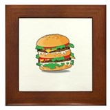 Cartoon Hamburger Framed Tile