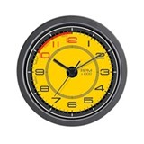 Ferrari Tachometer Wall Clock (yellow)