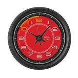 Ferrari Tachometer Large Wall Clock (red)