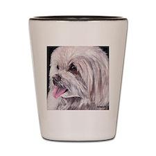 Maltese Terrier Dog Shot Glass