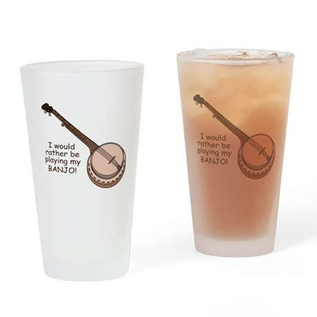 Banjo Design Pint Glass