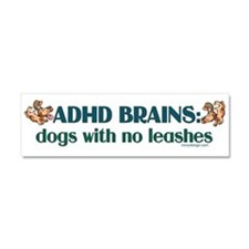ADHD BRAINS Car Magnet 10 x 3