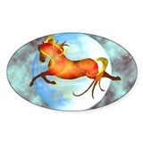 moon horse Oval Decal