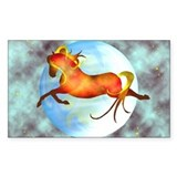 moon horse Rectangle Decal