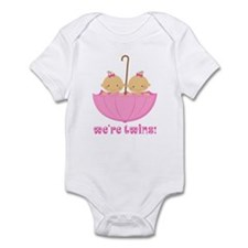 We're Twins Girls Infant Bodysuit