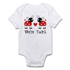 We're Twins Ladybugs Infant Bodysuit