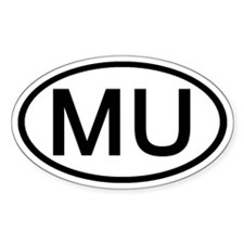 MU - Initial Oval Oval Decal