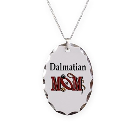 Dalmatian Mom Necklace Oval Charm