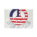 Patriotic Peace Rectangle Magnet (10 pack)