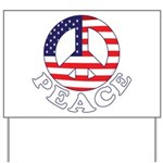 Patriotic Peace Yard Sign