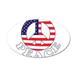 Patriotic Peace 22x14 Oval Wall Peel