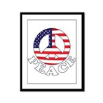 Patriotic Peace Framed Panel Print