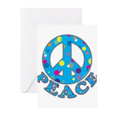 Polka Dot Peace Greeting Cards (Pk of 10)