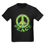 Polka Dots Peace Kids Dark T-Shirt