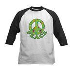Polka Dots Peace Kids Baseball Jersey