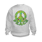 Polka Dots Peace Kids Sweatshirt
