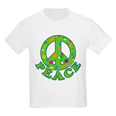 Polka Dots Peace Kids Light T-Shirt