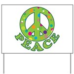 Polka Dots Peace Yard Sign