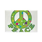 Polka Dots Peace Rectangle Magnet (100 pack)