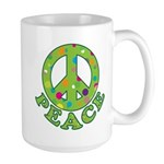 Polka Dots Peace Large Mug