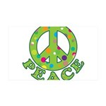 Polka Dots Peace 38.5 x 24.5 Wall Peel
