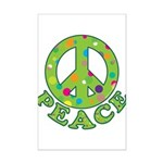 Polka Dots Peace Mini Poster Print