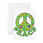 Polka Dots Peace Greeting Cards (Pk of 10)