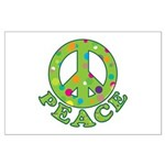 Polka Dots Peace Large Poster