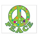 Polka Dots Peace Small Poster