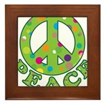 Polka Dots Peace Framed Tile