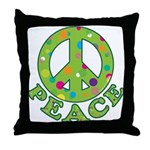 Polka Dots Peace Throw Pillow