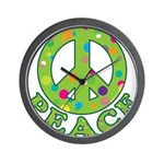 Polka Dots Peace Wall Clock