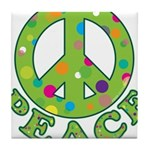 Polka Dots Peace Tile Coaster
