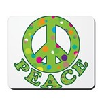 Polka Dots Peace Mousepad