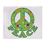 Polka Dots Peace Throw Blanket
